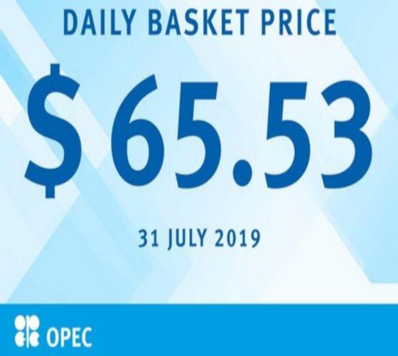 Pétrole: le panier de l'Opep établi à 65,53 dollars le baril