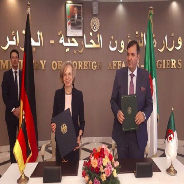 Signature à Alger d'un arrangement de coopération technique algéro-allemande