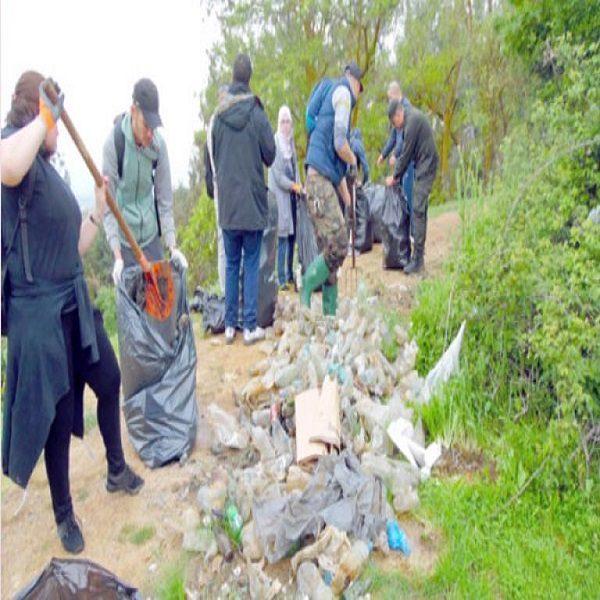 غابة جبل الوحش :جمع 10 أطنان من النفايات الهامدة