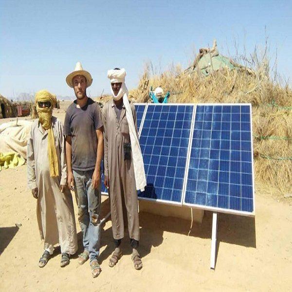 La filiale ER2 du CDER alimente 60 foyers isolés à Illizi par des kits solaires