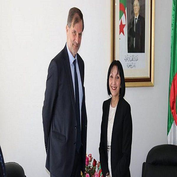 بن حراث تستقبل سفير الاتحاد الأوروبي بالجزائر