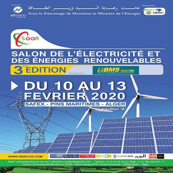 3ème édition du Salon de l'électricité et des énergies renouvelables DU 10 AU 13 février 2020