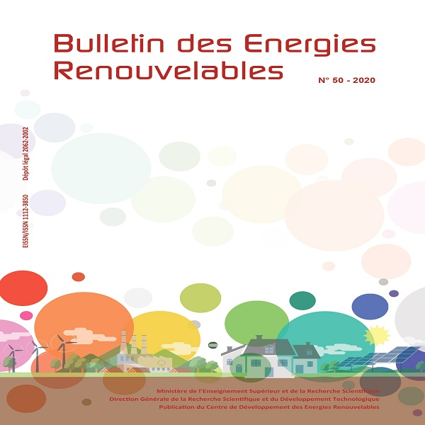 Le Centre de Développement des Energies Renouvelables (CDER) vient de publier la 50ème édition du Bulletin des Energies Renouvelables.