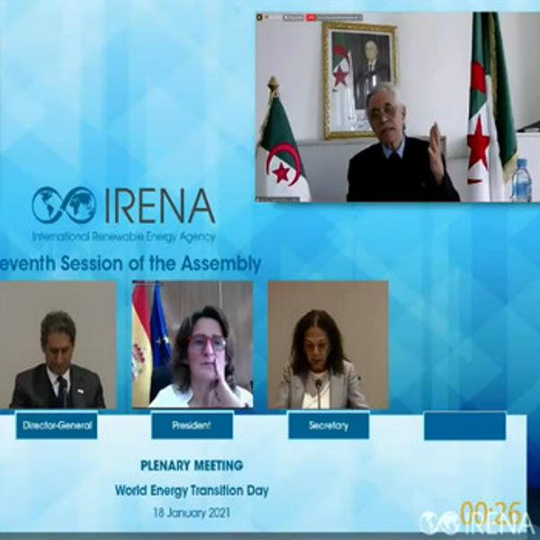 السيد شيتور يعرض أهداف الجزائر خلال الجمعية العامة ال11 للطاقات المتجددة