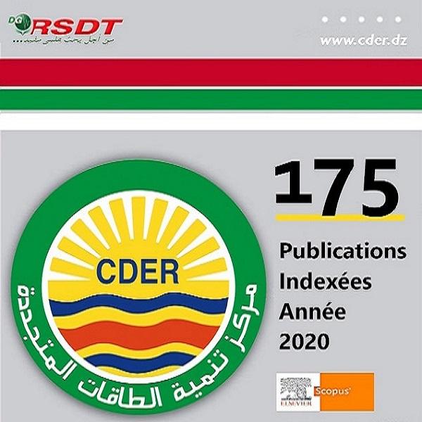Contributions scientifiques indexées de l'EPST CDER pour l'année 2020