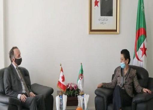 بيئة: السيدة بوجمعة تبحث مع سفير كندا فرص التعاون الثنائي