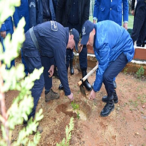 Participation des éléments de la police à la plantation de 237.571 arbustes en 2020