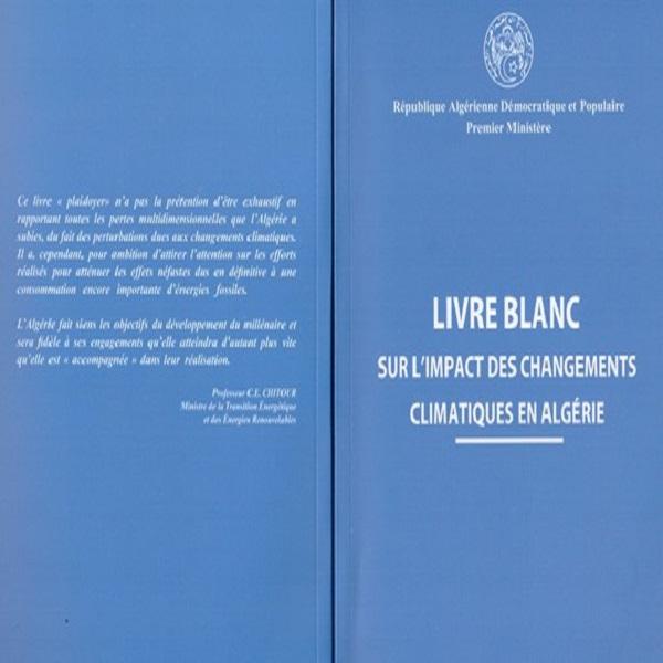 صدور الكتاب الأبيض حول أثار التغيرات المناخية في الجزائر