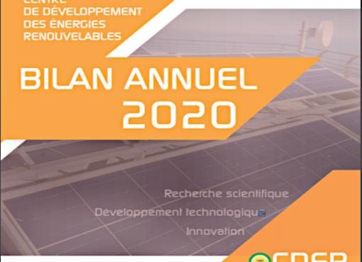 Bilan de la recherche scientifique, du développement technologique et de l'innovation de l'EPST CDER 2020